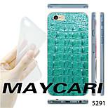 caso trasero patrón maycari®cyan grano del cocodrilo del tpu transparente suave para el iphone 6