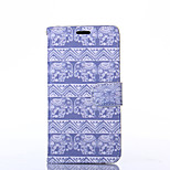 Elephant Pattern PU Leather Full Body Case with Stand for Sony Z3