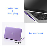 Solid Colors Matte Full Body Case with Dust Plug for Macbook Air 11.6