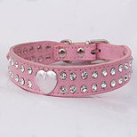 Lovely Adjustable PU Leather Diamond Collar for Pets Dogs/Cats(Assoted Colors,Sizes)