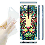 Colorful Lion Pattern TPU Soft Back Case for iPhone 6