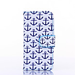 Anchor Pattern PU Leather Full Body Case with Stand for iPhone 5C
