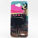 Alpaca Pattern TPU Material Phone Case for LG L90 D405