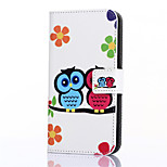 Love Owl Pattern PU Leather Full Body Case with Stand and Card Slot for ZTE Blade S6