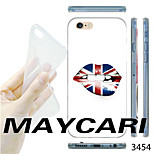 MAYCARI®The British Flag Lips Pattern TPU Soft Transparent Back Case for iPhone 6