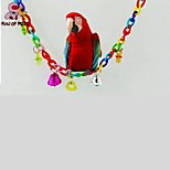 FUN OF PETS® Long Colorful Hanging Bridge with bells Cage Hanging for Birds (Random Colour)