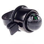 Bike Cycling Bicycle Bell with Compass Black