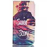 Summer Story Pattern PU Leather Phone Case For iPhone 6 Plus