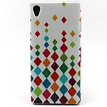 Colorful Diamond Pattern TPU Material Soft Phone Case for Sony Xperia Z3