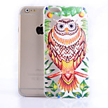 Owl Pattern Slim Transparent TPU Material Soft Phone Case for iPhone 6