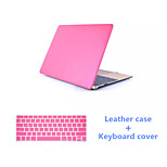 High Quality Luxury PU Leather Full Body Case with Keyboard Cover for Macbook Air 13.3