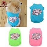 FUN OF PETS® Cotton Pet Dog Summer T Shirt Vest Puppy Cat Vest Clothes Apparel Costume (Assorted Colors and Sizes)