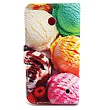 Ice Cream Ball Pattern PU Leather Material Card Full Body Case for Nokia Lumia 630
