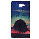 Under the Stars Pattern TPU Material  Phone Case for Sony Xperia M2