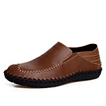 Men's Shoes Casual Leather Loafers Brown/Yellow/Black