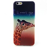 Giraffe Pattern TPU Material Soft Phone Case for iPhone 6