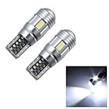 Merdia T10 2W 40LM 4x5630SMD LED and 2 Condenser Lens White/Red/Ice Blue Driving Lamp /Reading Light (12V / Pair)