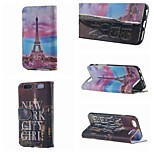 New York City and Tower Double Side Pattern Leather PU Cover Case with Stand for iPhone 6G