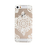 White Pattern PC Material Phone Case for iPhone 5/5S