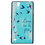 Be Free Pattern PC Hard Case for Sony Xperia C4