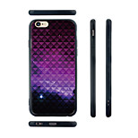 Gradient Purple Pattern Silica Gel Edge Back Case for iPhone 6 Plus