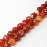 Beadia 39Cm/Str (Approx 48PCS) Natural Agate Beads 8mm Round Stone Loose Beads DIY Accessories