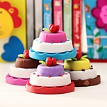 3 Layer Cupcake Shaped Eraser Kids Colorful Cake Rubber Stationery Kit (Random Color)