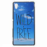 Sky Letters Pattern PC Material Phone Case for Sony M4 / C4