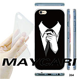 MAYCARI®Black Suit Pattern TPU Soft Transparent Back Case for iPhone 6