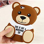 Silicone Material Cute Bear design for iPhone 6