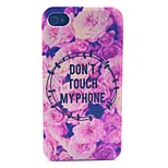 Flowers Pattern PC Material Phone Case for iPhone 4/4S