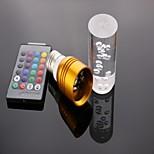 Lâmpada de Foco Controle Remoto E26/E27 3 W 300 LM K RGB 1 LED de Alta Potência AC 85-265 V A
