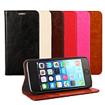 Multicolor Oil SIDE Leather Phone Case For iPhone 5/5S (Assorted Colors)