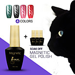 Azure 4Pcs/Lot  Cat Eye Magnetic UV Nail Gel Polish Manicure UV LED Easy Soak Off Gel Polish (#67+#68+#69+#70)