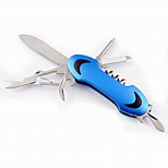 Fashion Stainless Steel Scissors/Bottle Opener/Saws/Compasses Folding Multitools Camping/Outdoor(Random Color)