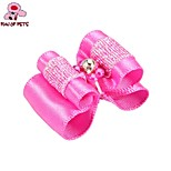 FUN OF PETS® Lovely Ribbon Style Flower Bead Decorated Rubber Band Hair Bow for Pet Dogs