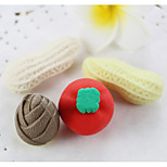 Cartoon Vegetale Peanut Radish Bamboo Shoots Assemble Rubber Eraser (Random Color)
