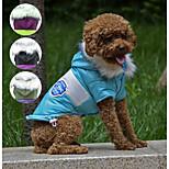 PETSOO Contrast Color Winter Dog Clothes Fish Bone pattern Pet Jacket Adjustable button Pet Coat