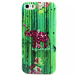Color Baby Elephant Pattern TPU Painted Soft Back Cover for iPhone 5/5S