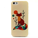 Little Fox Pattern TPU Painted Soft Back Cover for iPhone 5/5S