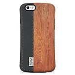 motif grain de bois pc + résistance à la chute de TPU coquille de téléphone pour iPhone 6