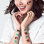 5Pcs Waterproof Luminous English Letters Pattern Temporary Body Art Tattoo Sticker