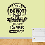 Wall Stickers Wall Decals Style You Do Not Exist English Words & Quotes PVC Wall Stickers