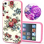 2-in-1 Bling Bling White Flower Pattern PC Back Cover with PC Bumper Shockproof Hard Case for iPhone 5G/5S