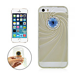 Angibabe Transparent Fashion Big Diamond TPU Jelly Soft Case for iPhone 5/5S (Assorted Color)