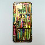 MAYCARI®Bookcase Pattern TPU Soft Transparent Back Case for iPhone 6