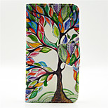 Colorful Tree Pattern PU Leahter Full Body Case with Card Slot for Microsoft Lumia 640