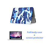 Fashion Camouflage Full Body Case with HD Screen Protector for Macbook Air 13.3