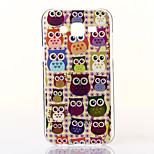 gul bakgrund owls mönster tpu mjuk väska till Samsung Galaxy J5
