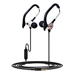 HUAST Stereo Earphones In-Ear Metal Headphones with EarHook for iPhone 6 / 6 Plus / iPod / iPad Air / Samsung Huawei